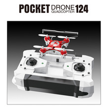 RC Drone Dron 2.4G 4CH 6-Axis Gyro RTF Pocket Headless Mode Quadcopter Aircraft Toy FQ777 - 124 Drones Copters Kids Xmas Gifts цена 2017