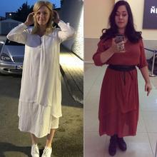 Plus Size Linen Long Dress Short Sleeve Boho Large Dresses