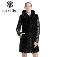 SARSALLYA Natural Mink Coat Jacket Woman's Winter Jackets Detachable Leather Real Fur Coat Women Clothing Overcoat Female