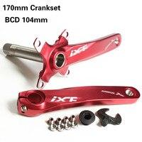 CNC Untralight دراجة Crankset MTB الطريق دراجة الساعد مجموعة مع محور Aluminmum سبائك كرنك ل BCD104 دراجة Dh الساعد مجموعة