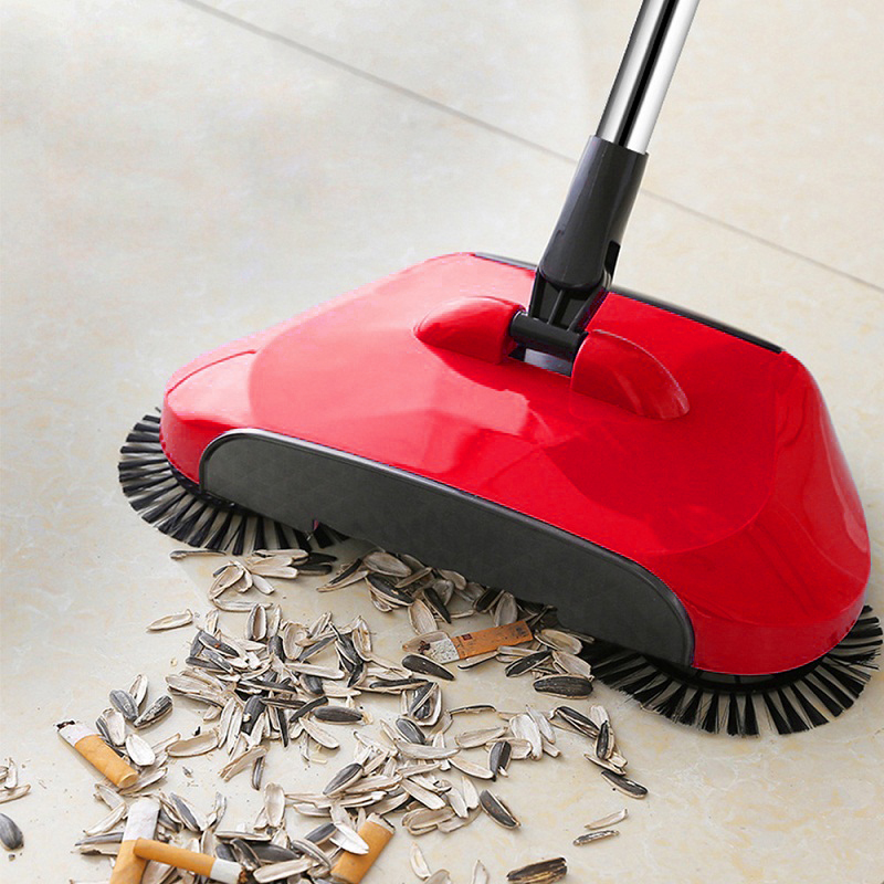 Automatic Cleaning Sweeping Tool Without Electricity Hand Push Household Lazy Sweeper Broom 360 Degree Rotating(China)