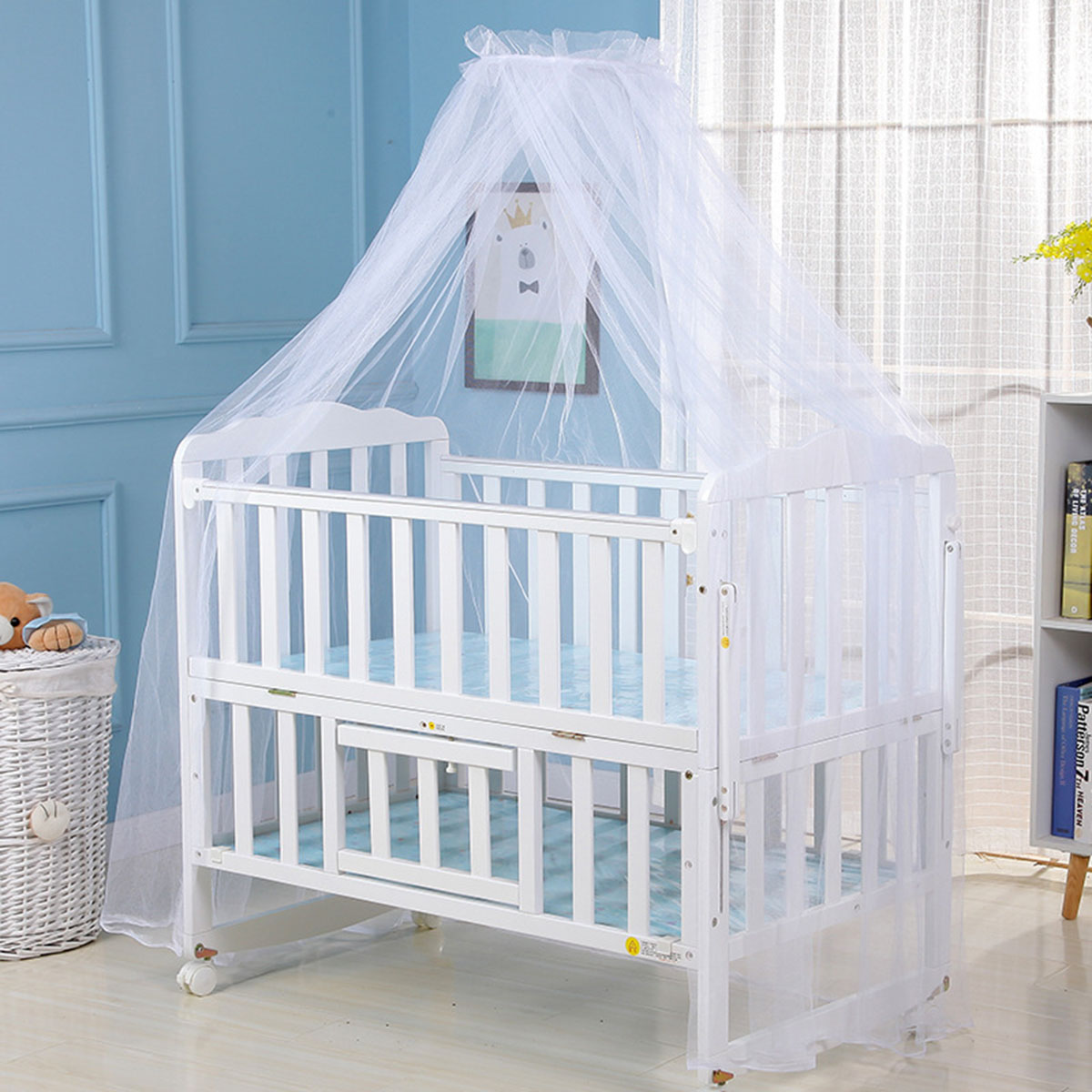 Baby Cradle Bedding Arched Yurt Bed Crib Netting Bedcover Mesh Mosquito Curtain