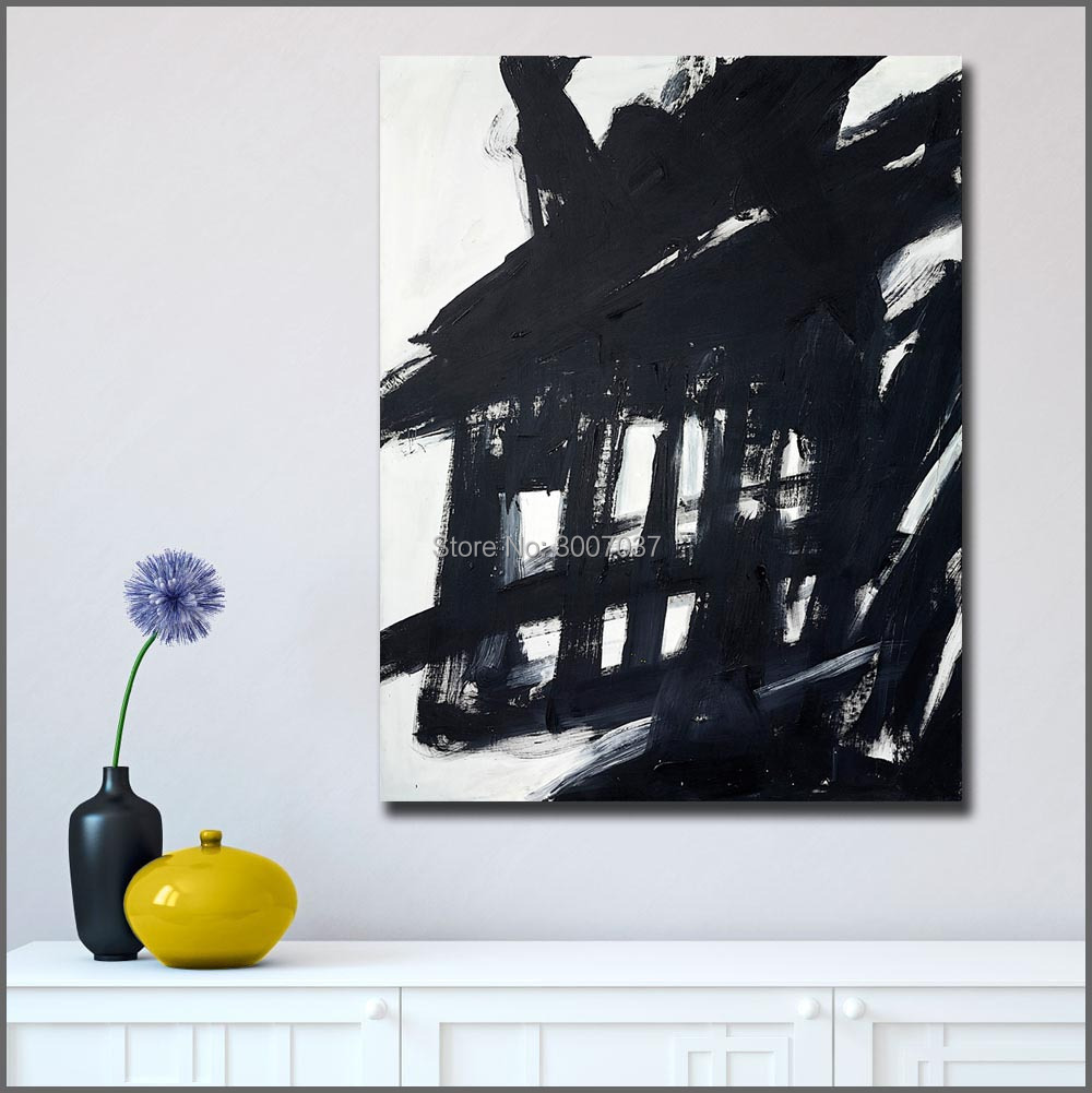 Abstract Hand Painted Canvas Painting Franz Kline Oil Painting Wall Art Canvas Painting for Home Decor Living Room No Frames in Painting Calligraphy from Home Garden