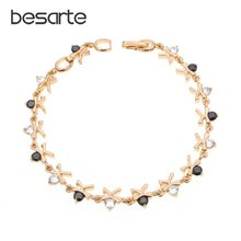 Черные ок женские золотые браслеты на запястье femme pulsera