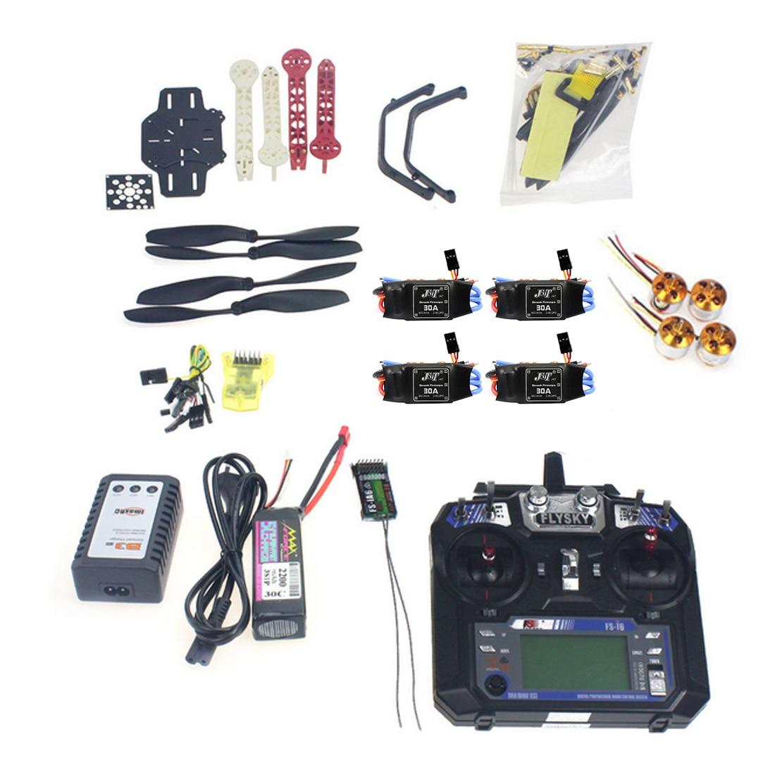 F02471-F Kit Completo RC Drone Quadrocopter Aeronaves Kit F330 Controle de Vôo MultiCopter Quadro MINI CC3D FS-i6 Flysky TX