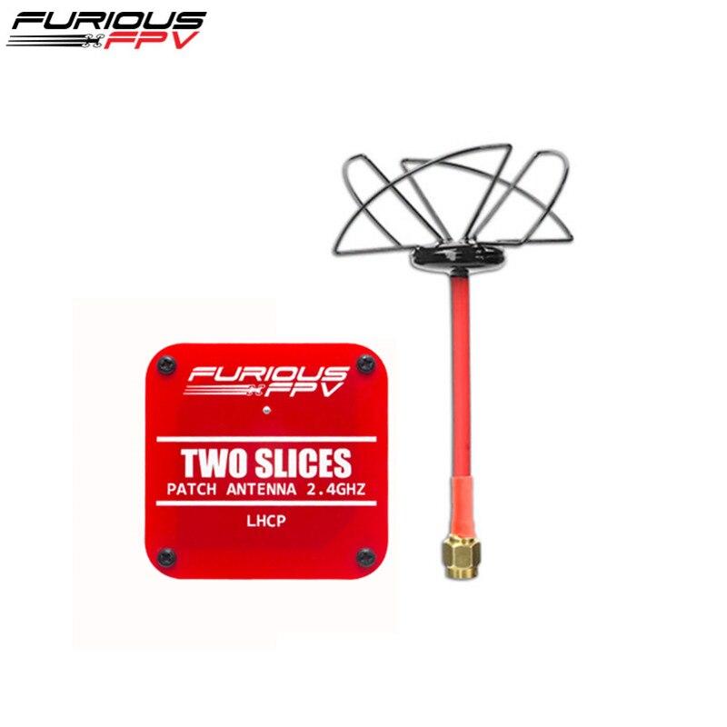 FuriousFPV 2.4 GHz et deux tranches Patch circulaire antenne FPV LHCP/RHCP SMA mâle pour RC modèles FPV course Drone pièce de rechange Accs