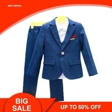 цена на Wedding Suits For Flower Boys Children Blazer Vest pants Tie 4PCS Formal Clothing Sets Gentleman Kids Performances Costume