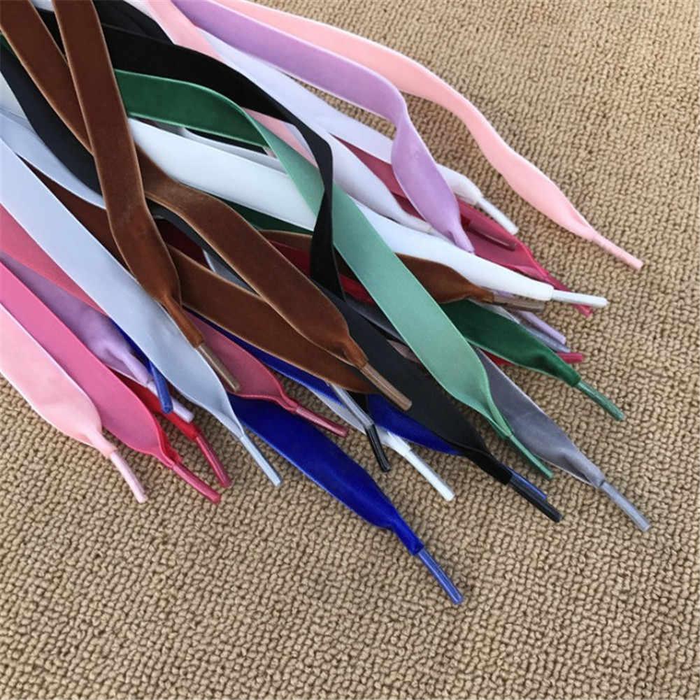 Breedte Fluwelen Oppervlak Schoenveters Vrouwen Mannen Zwart Wit Blauw Kleurrijke Lederen Sport Casual Schoenen Veters 100 cm/120 cm