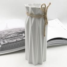 Оригами пластиковая ваза белая имитация керамики цветочный горшок Цветочная корзина искусственный цветок домашний декоративный контейнер для композиции