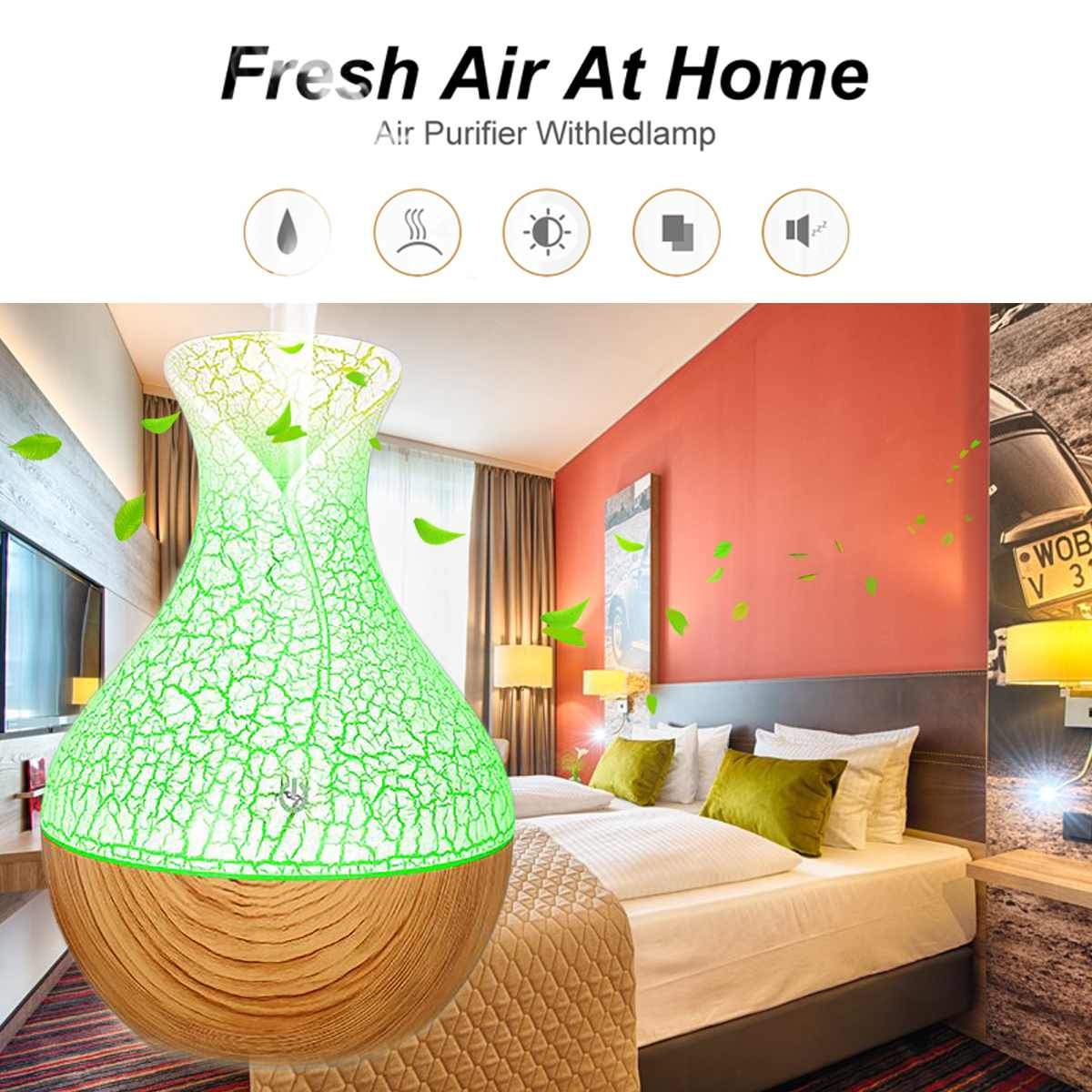 USB Color LED Light Night Ultrasonic Humidifier Air Purifier Essential Oil Aroma Diffuser Spa Cold Mist Purifier Office Home Car 3 in 1 aroma essential oil diffuser ultrasonic cans humidifier air purifier led night light usb fan car air freshener for office
