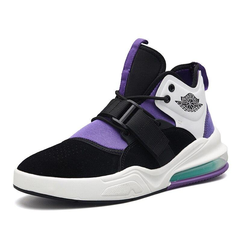 Cuir véritable homme Jordan basket chaussures hommes AIR amorti léger baskets anti-dérapant athlétique Sports de plein AIR Jordan chaussures