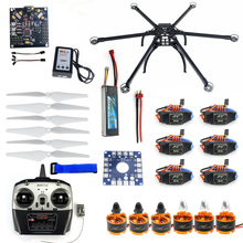 Folding Hexacopter Aircraft Unassembled Full Frame Kit 6CH TX&RX ESC Motor KK board Battery Charger F10513-B assembled kit 30a esc tarot motor kk esc connection board connectors dean t plug wire for 6 aix hexacopter