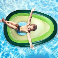 New Soft And Durable Inflatable Avocado Pool Float Summer Beach Swimming Float Safety Ball Beach Toy For Kids Adults Portable