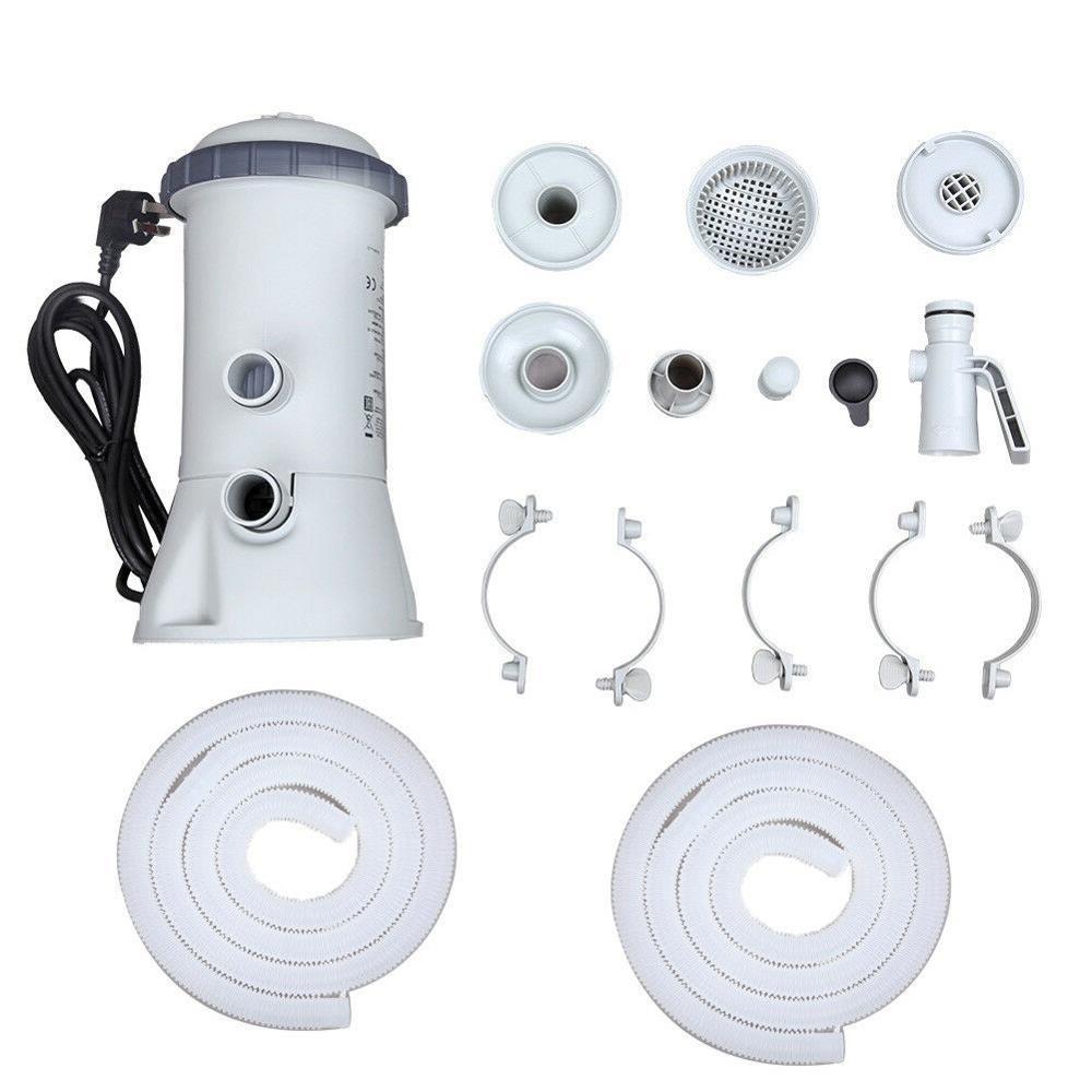 1000GAL 220 V pompe de filtration Outils Pour Intex Piscine Rapide Sol cadre en acier - 6