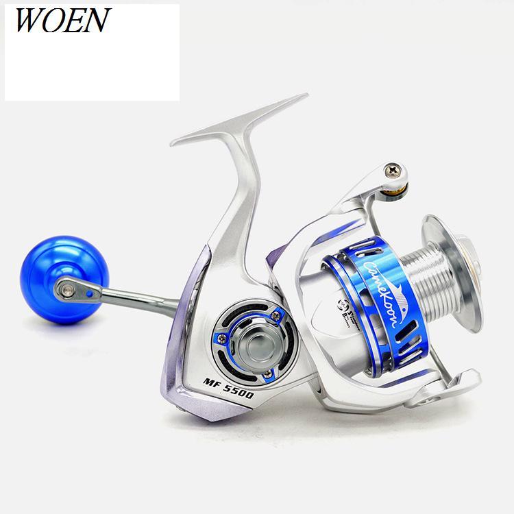Image 2 - WOEN MF5500 All metal Seawater prevention Spinning wheel 13BB Slow shake Sea fishing wheel Speed ratio: 4.6:1 Brake force 20KG-in Fishing Reels from Sports & Entertainment