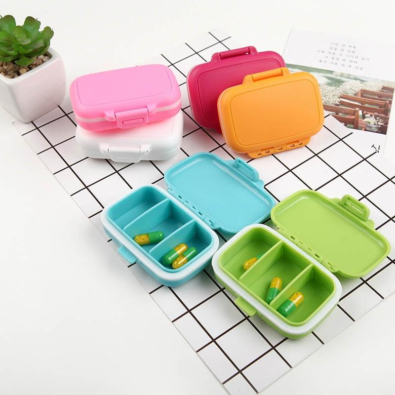 Table Organizer Medicine Container Mini Pill Case Medicine Storage Box Waterproof 1PC Portable Travel Accessories