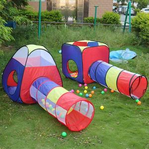 Image 2 - 4 adet bebek tarama tünel çadır evi çocuk kapalı açık oyun dalga okyanus top havuzu Pit oyuncak katlanabilir çocuk oyun çadırları oyun evi