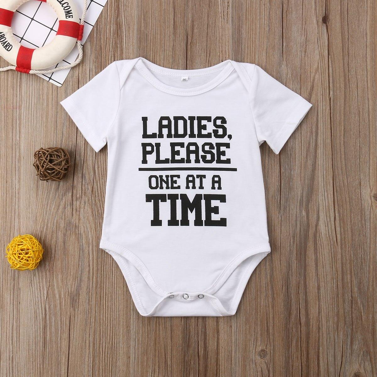 Newborn Infant Baby Girls Boy Short Sleeve   Romper   Clothes Playsuit Letter Jumpsuit