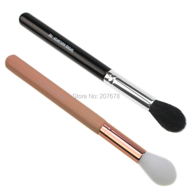 Sgm F35-tapered Highlighter Beauty Makeup Brush Perfect Professional Individual Face Foundation Make-up Soft Hair Contour Brush
