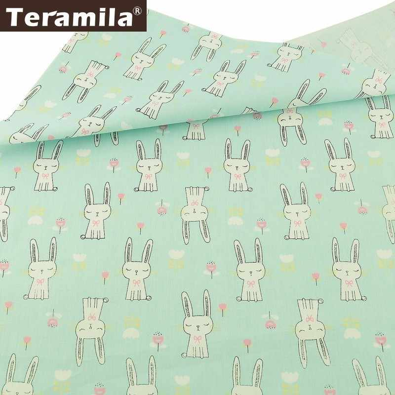 Teramila Fabric 100% Cotton Beige Twill Material Bed Sheet Sewing Texitle Printed Cartoon Lovely Zebra Baby Design Set Cloth