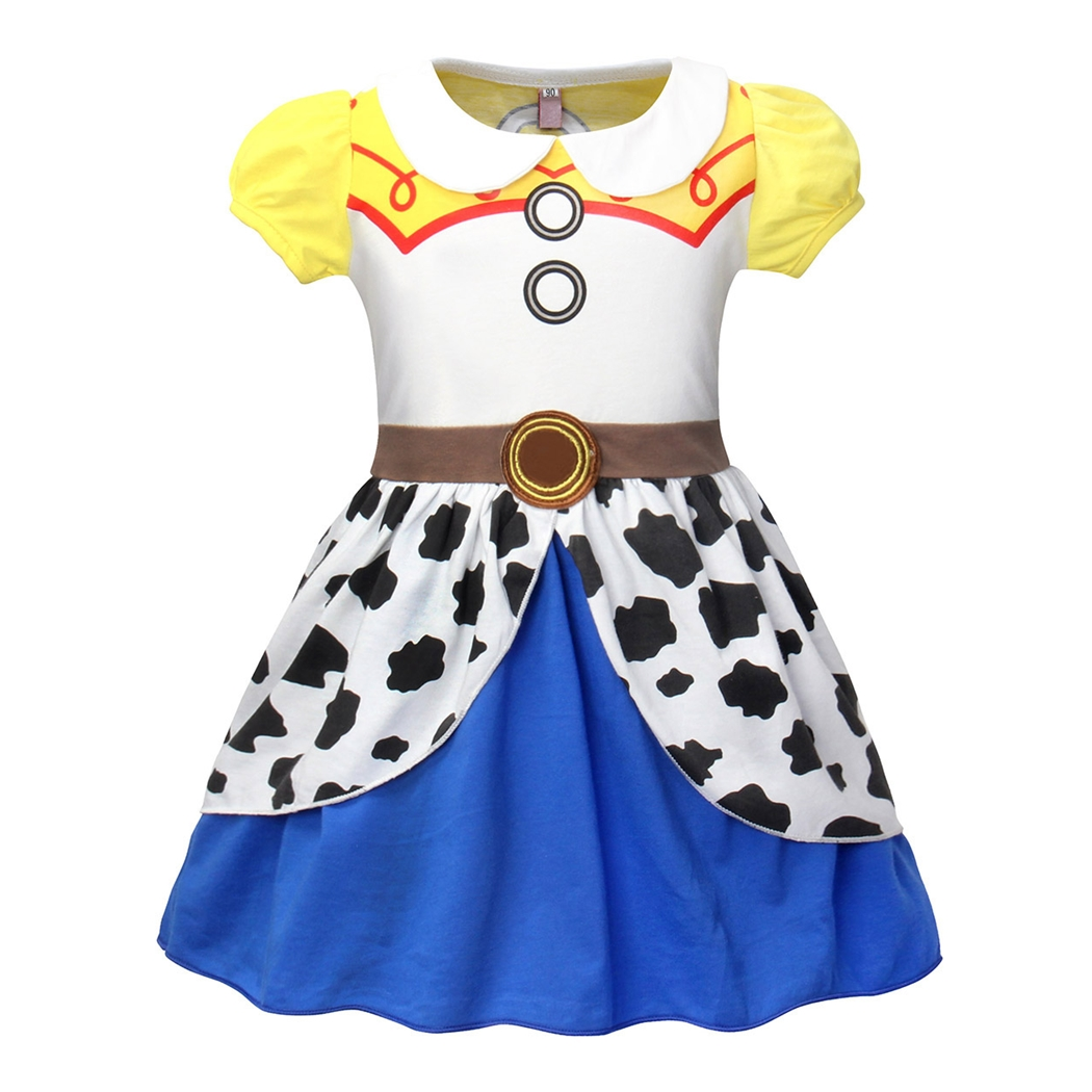 AmzBarley Girls Jessie Tutu Costumes Dress Fancy Party Cow Girl Dress Up Cosplay Kids Holiday Birthday Outfit Dresses
