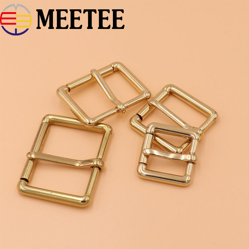 Self-Conscious 2pcs Solid Brass Roller Belt Buckles Metal Pin Buckles For Belt Backpack Bag Strap Diy Leather Craft Garment Accessories Ky845 Vivid And Great In Style Apparel Sewing & Fabric Arts,crafts & Sewing