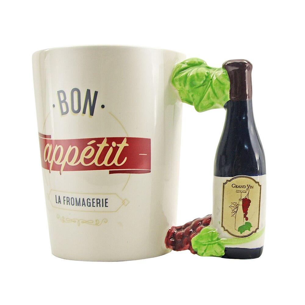 1 pièce Fromagerie La Fromagerie bouteille de vin poignée tasse Bon appétit bière tasse thé tasse en céramique vaisselle