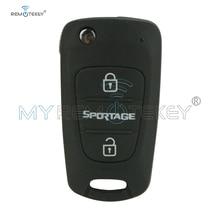 Remtekey Flip remote key 3 button 434Mhz TOY48 blade with 46chip for Kia Sportage