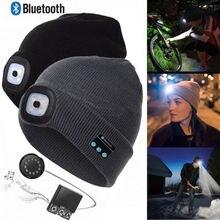 Fashion Warm Beanie Bluetooth LED Hat Wireless Smart Cap Headset Headphone Speak