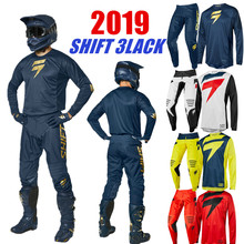 Shift 3 lack Mx Джерси и брюки Топ ATV BMX мотокросса Combo Гонки грязи велосипедный костюм 4 цвета мотоцикл одежда
