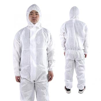 Hooded Coverall Painting Dust Safety Suit Chemical Protective Dust-proof Clothing Oil-Resistant Workwear White M,L,XL,XXL 1