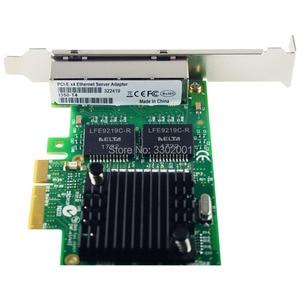 Image 3 - FANMI I350 T4 4 יציאת Gigabit Ethernet PCI Express X4 intel I350AM4 שרת מתאם רשת כרטיס