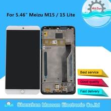 "5.46 ""Meizu M15 M871H Snapdragon 626 LCD 스크린 디스플레이 + Meizu 15 Lite 용 터치 스크린 패널 디지타이저 프레임 용 M & Sen"