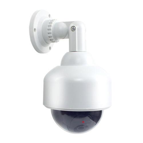 Outdoor Fake CCTV Security Dummy Surveillance Dome IP Camera Solar LED Flashing