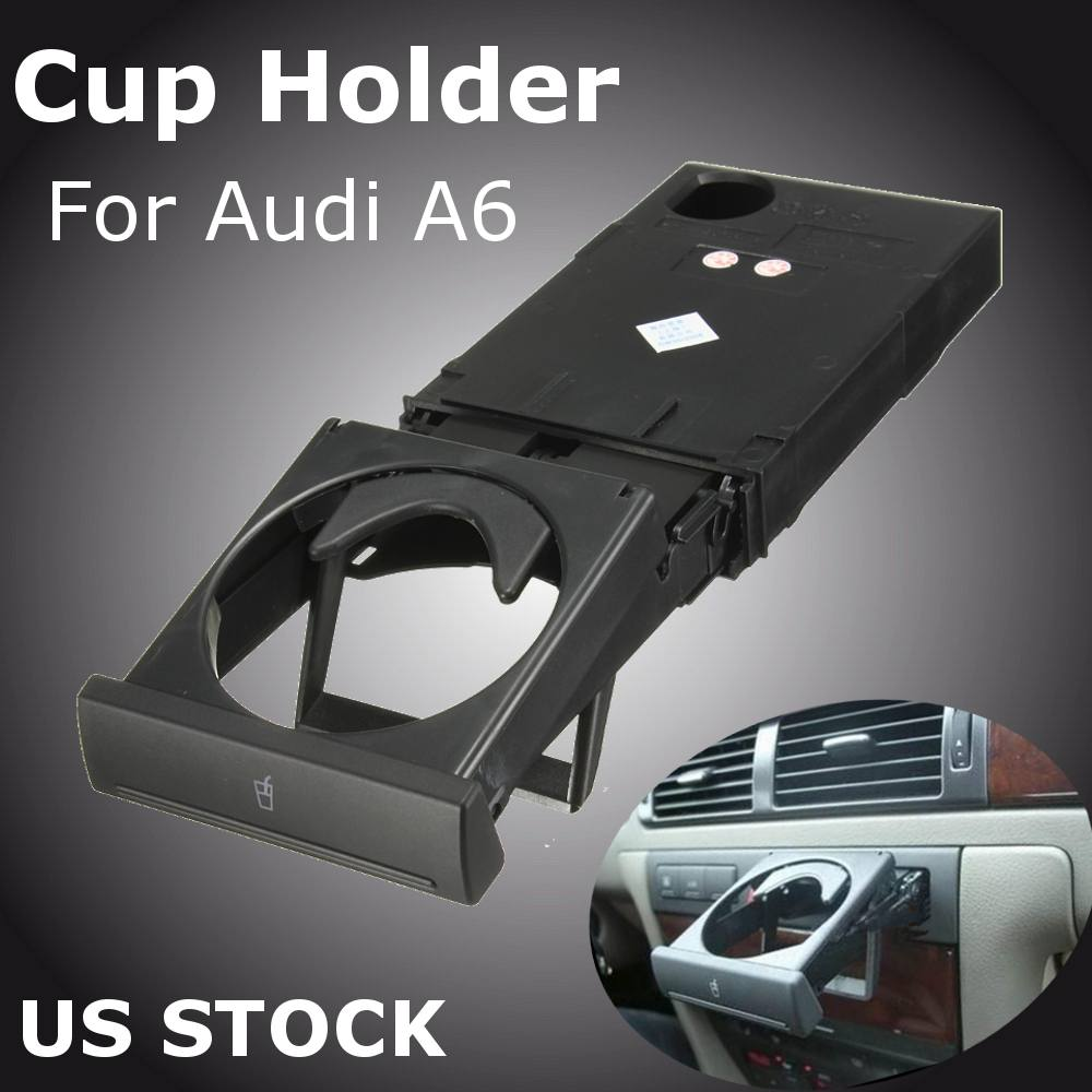 1 ensemble Avant Dash Voiture Auto Boire la Tasse Porte-Bouteille Stand Durable ABS En Plastique Pour Audi C5A6 1998-2005 a4B6 1998-2002 4B0862534D