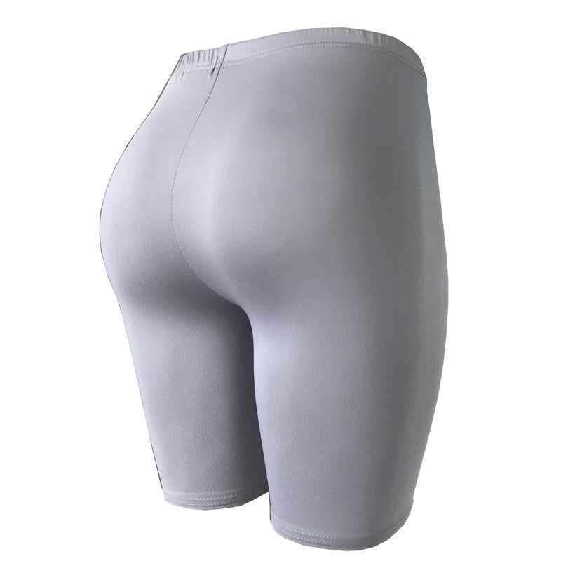 2019 nowe miękkie Nylon Fitness Jogger szorty damskie wysokiej talii stałe Sport treningu jogi krótki Slim brzucha sterowania siłownia sportowe szorty