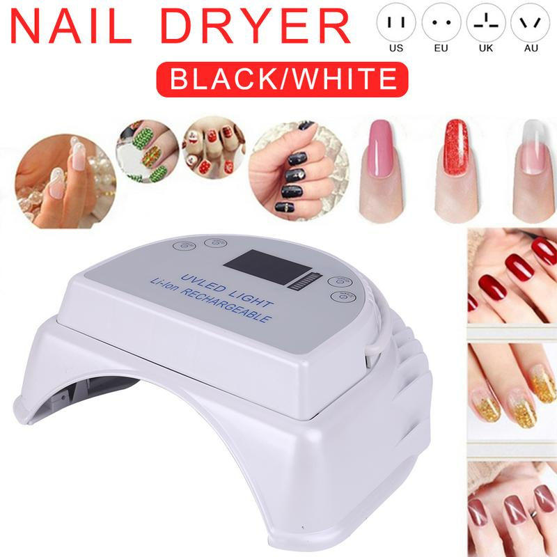 Rechargeable 64W UV Lamp Gel Nail Dryer LED For Nails Machine Nail Curing Lamp For Gel Polish Nail Art Tools Drop ShippingRechargeable 64W UV Lamp Gel Nail Dryer LED For Nails Machine Nail Curing Lamp For Gel Polish Nail Art Tools Drop Shipping