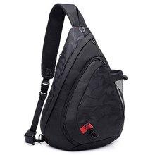 Men Waterproof Black Camouflage Small Chest Bag Boy Rucksack
