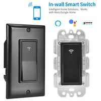 LED Panel Physical Button Smart Switch High Quality Voice Control Switch Work With Amazon Alexa Google Home