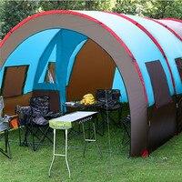 5 10 человек, непромокаемая портативная походная палатка, двухслойная ткань Оксфорд