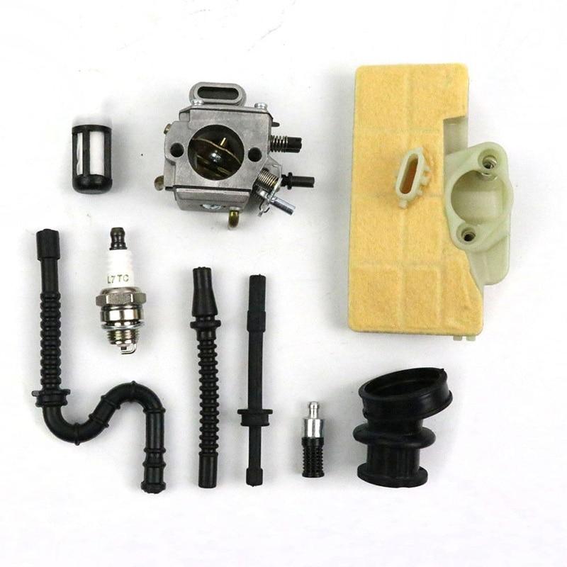 Carburetor Carb Set For Stihl 029 MS290 039 MS390 Chainsaw 1127 120 0650 Durable Carburetor Spark Plug Accessories