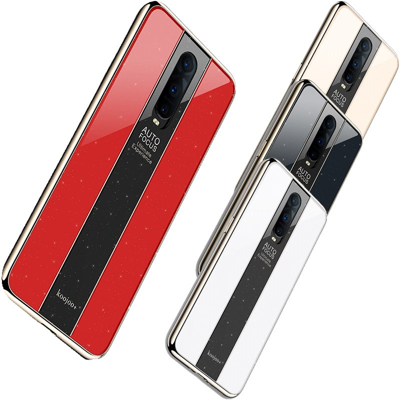 Fashion Case For <font><b>OPPO</b></font> R17 R 15 17 Pro R15x K1 <font><b>Reno</b></font> 10x ZPlating Soft <font><b>Tpu</b></font> Border +3 Section Mirror Style Acrylic Back Case Cover image