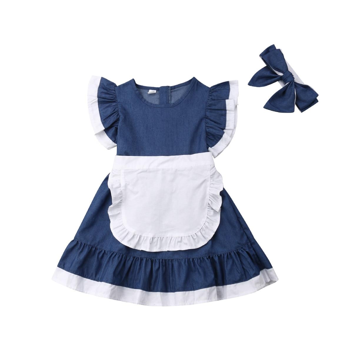 2-7years Casual Kids Baby Meisjes Outfits Kleding Crop T-shirt Tops Katoenen Schort Jurk Structurele Handicaps