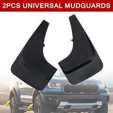 2Pcs Universal Front Rear Car Mud Flaps Splash Guards Fenders Mudguard For Pickup Plastic Replacement font