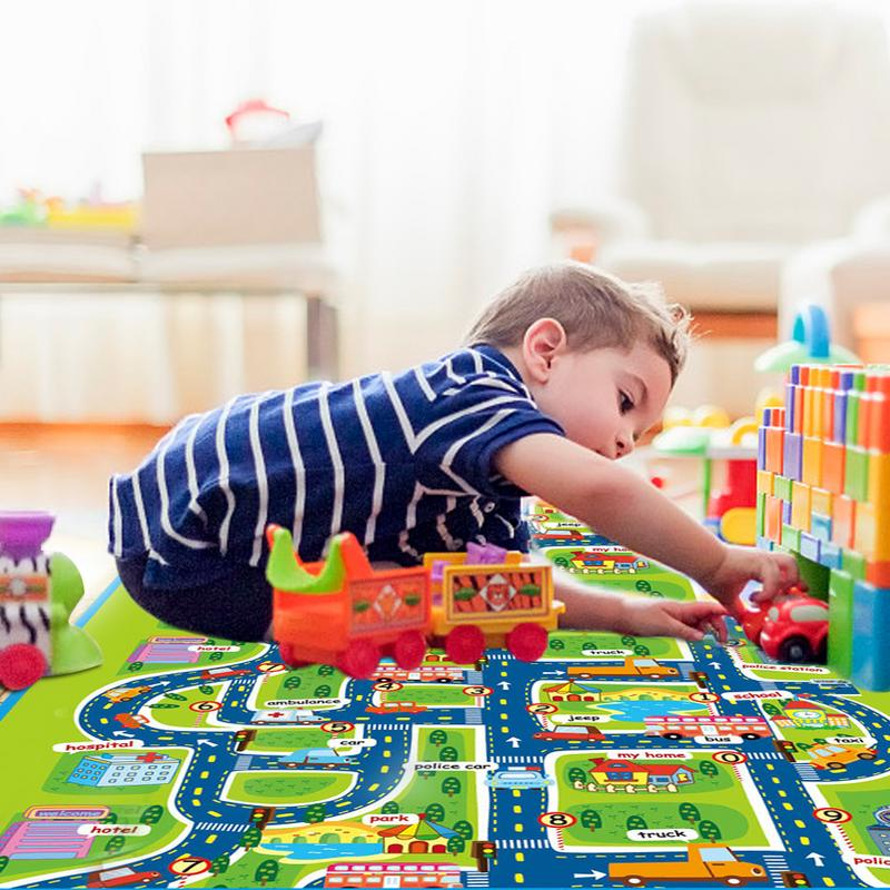 Kids Carpet Playmat Rug City Life Great For Playing With Cars And Toys Play Learn Children Educational Road Traffic Play Mat