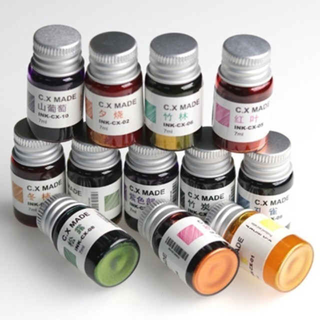 7/20ml Smooth Colorful Liquid Ink Bright Comics Ink Refill Without Fountain Pen Ink Pen Carbon Office School Stationery 03826 4