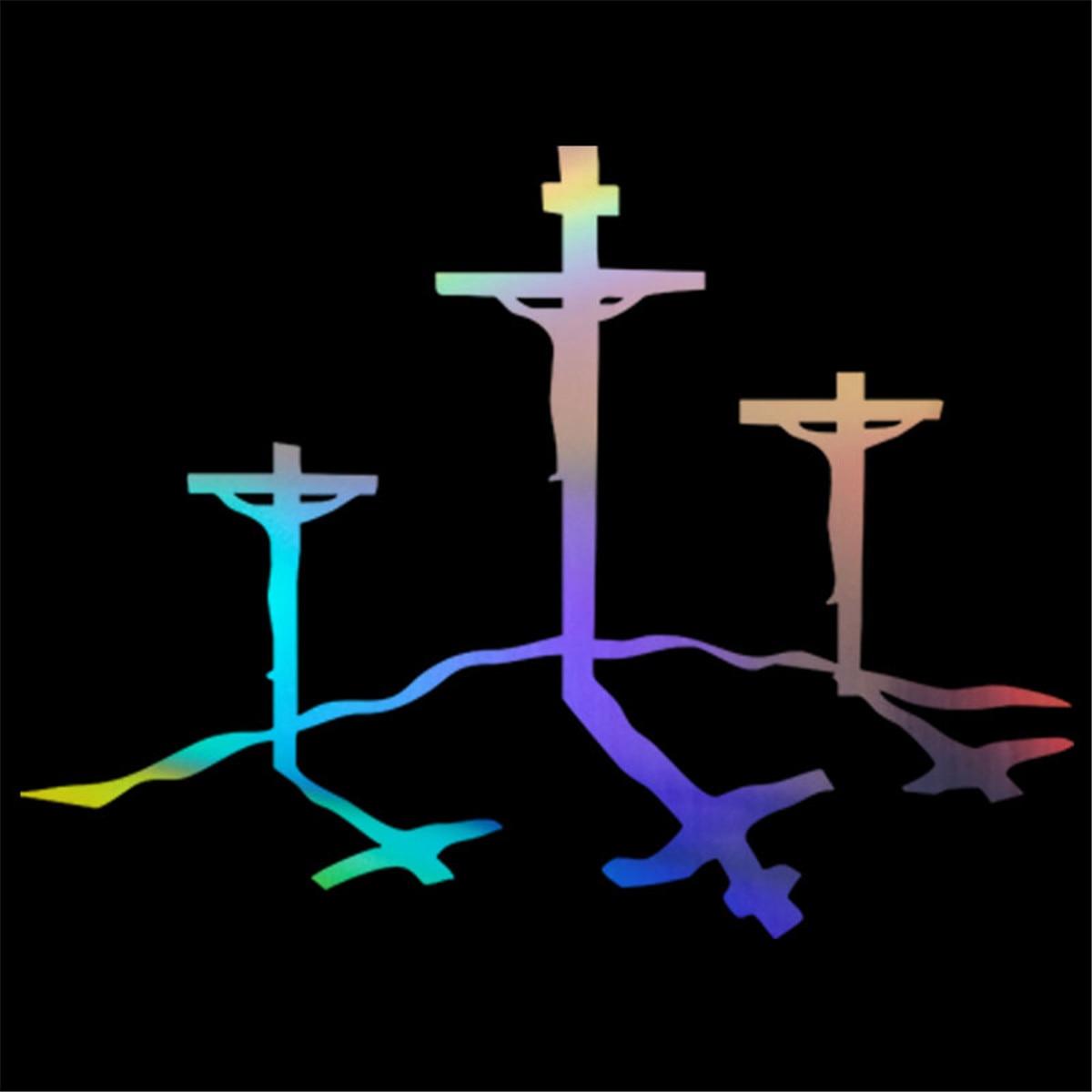 "Jesus Face Religious Funny Vinyl Decal Sticker Car Window laptop tablet 7/"""