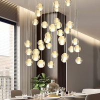 Modern Crystal LED Pendant Lights Coffee Bedroom Lighting Lustres Pendent Lamps LED Hanging Lamps Kitchen Fixtures Luminaire