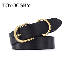 2018 New Fashion Arrival Women Retro Leather Belt Casual Pin Buckle Female Bronze Gold Ring for TOYOOSKY
