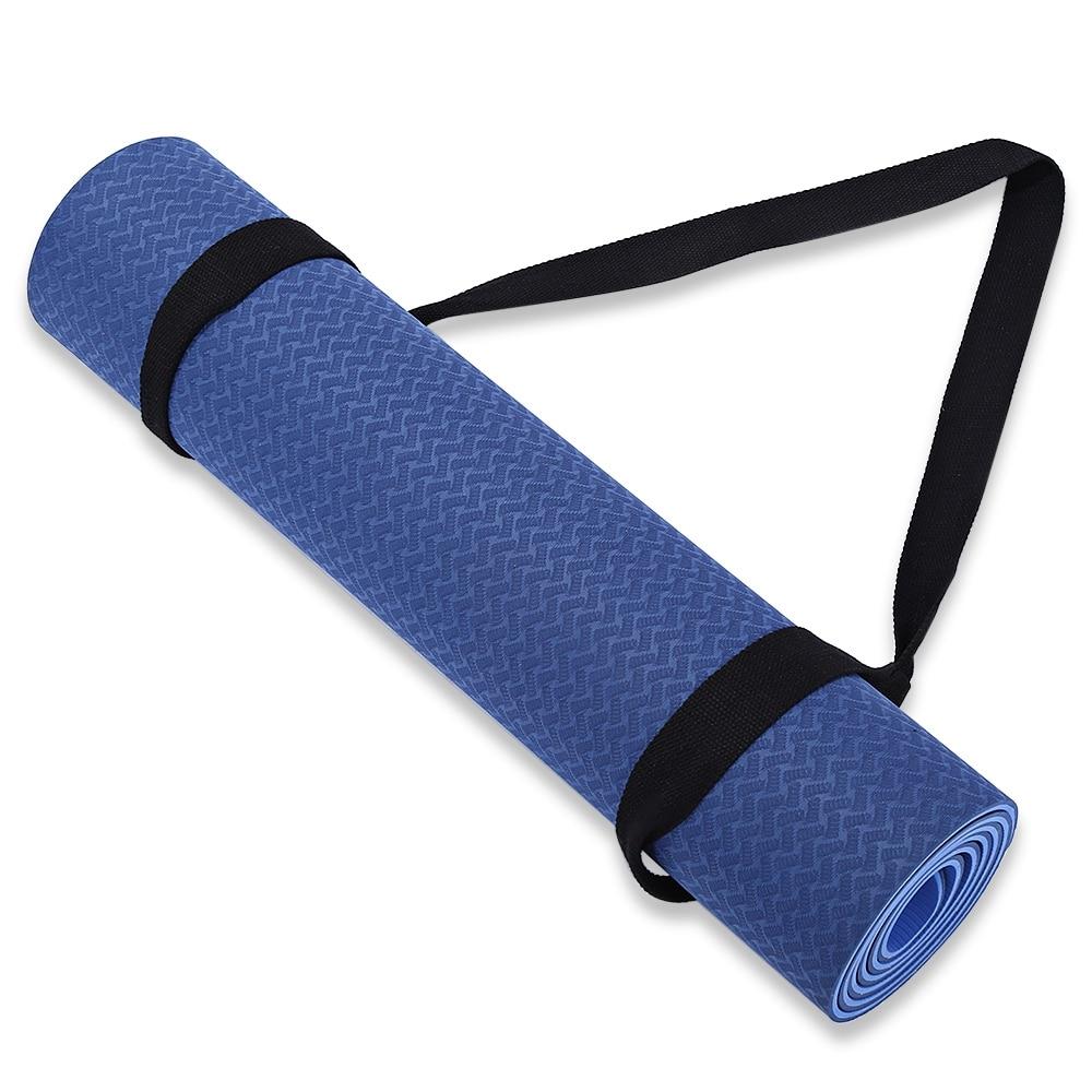 Portable Yoga Mat Strap Sling Sports Cotton Belt Fitness Gym Adjustable Carrier Shoulder Carry Strap Belt Exercise Stretch Belt